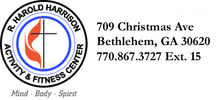 BFUMC Fitness Center709 Christmas AveBethlehem, GA 30620(770) 867-3727